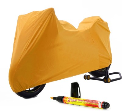 Time 1 Royal Enfield 350 Twin Spark Orange Cover, 1 With Scratch Remover Combo