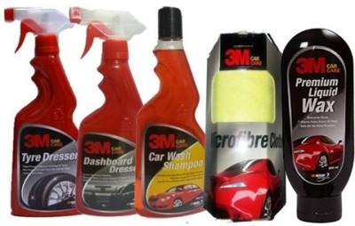 3M 1 Car Care kit Tyre Polish, 1 DashboardPolish, 1 Shampoo, 1 Liquid Wax, 1 Wipe - Big Combo