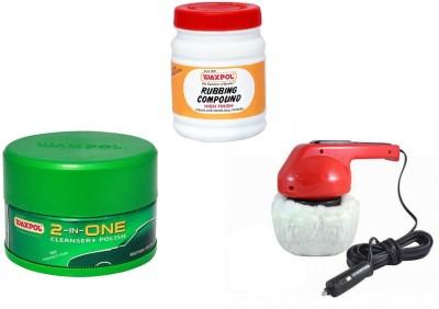 Waxpol 1 Car Polisher, 1 Waxpol 2 in 1 Cleaner Cum Polish, 1 Waxpol Rubbing Compound Combo