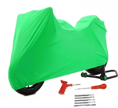 Time 1 Royal Enfield 350 Twin Spark Green Cover, 1 With Puncture Kit Combo