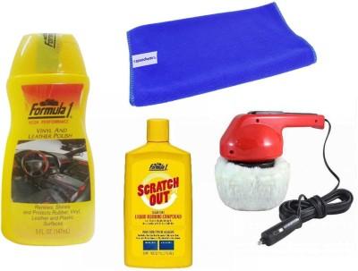 Coido 1 Car Polisher, 1 Formula 1 Polish, 1 Formula 1 Rubbing Compound, 1 Cleaning Cloth Combo