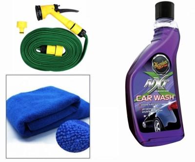 Meguiar's 1 Meguiars NXT Generation Car Wash-532ml, 1 Microfiber Cloth, 1 Spray Gun, 1 Spray Gun Combo