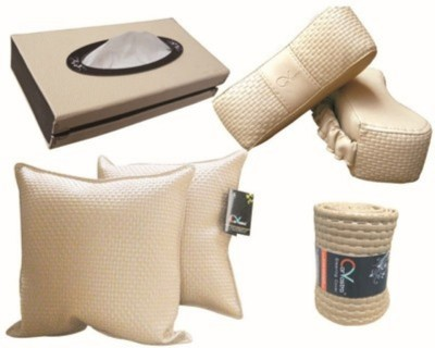 Kozdiko 2 car cushion, 2 neck rest, 1 tissue box, 1 steering cover Combo