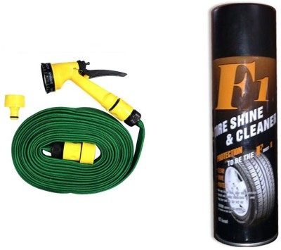 F1 1 F1 Auto Tyre Shine and Cleaner 650ml, 1 Pressure Washing Gun Combo