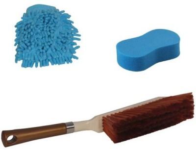 Canabee 1 Microfiber Gloves, 1 Cleaning Brush Forcar/Bike, Sponge Combo