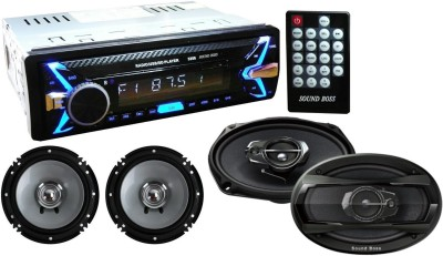 Sound Boss DETACHABLE Car Stereo Fm Mp3 Usb Sd Aux-in +, 6