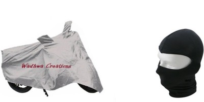 Wadhwa 1 silver bike cover, 1 face mask Combo
