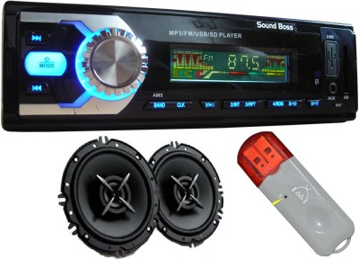 Sound Boss USB/FM/Fixed Panel ID3 CAR MP3 PLAYER+, Bluetooth UNABLE DEVICE for Music, +6-1/2