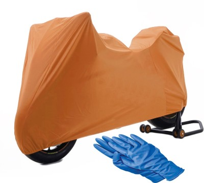 Time 1 TVS Max Brown Cover, 1 With Rubber Gloves Combo