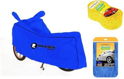 Raaisin 1 Waterproof Bike Cover, 1 Cleaning Cloth, 1 Cleaning Sponge Combo