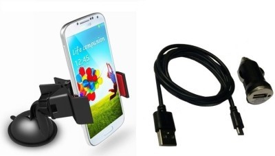 FloMaster 1 Mobile Holder, 1 USB Charger, 1 V8 Charging cable Combo