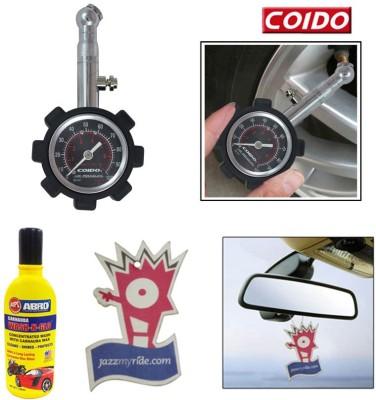 Coido 1 Tyre Pressure Gauge, 1 Shampoo100ml, 1 Jazzy Perfume Combo