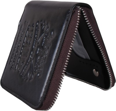 Sushito Men Black Genuine Leather Wallet