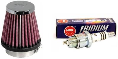 K&N 1 Bike Spark Plug, 1 Air Filter-Yamaha YZF R15 Combo
