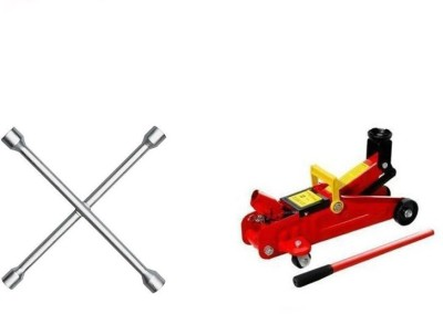 OEM 1 4 Way Spanner, 1 2 Ton Hydraulic Trolly Jack Combo