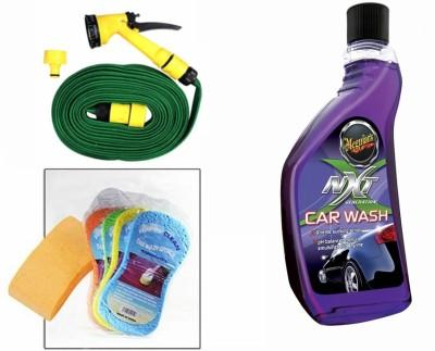 Meguiar's 1 Meguiars NXT Generation Car Wash-532ml, 1 Magic Sponge, 1 Spray Gun, 1 Spray Gun Combo