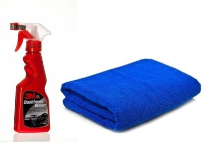 3M Diy Dash Board Dresser 250 Ml Car Washing Liquid(250 ml), Microfiber Vehicle Washing Cloth Combo