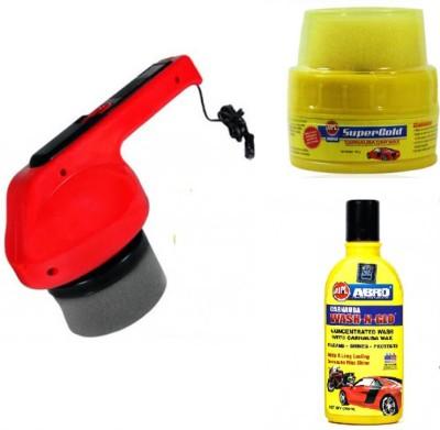 Coido 1 6003 Car Polisher Polish Shining Machine, 1 Abro Wax, 1 Abro Shampoo Combo