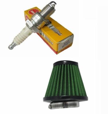 NGK 1 Bike Spark Plug, 1 Air Filter Combo