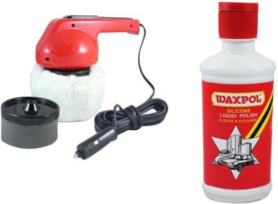 Coido 1 6003 Car Polisher, 1 Waxpol Silicone Liquid Polish 200ml Combo