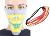 Sushito Yellow Printed Grey Face Mask Co...