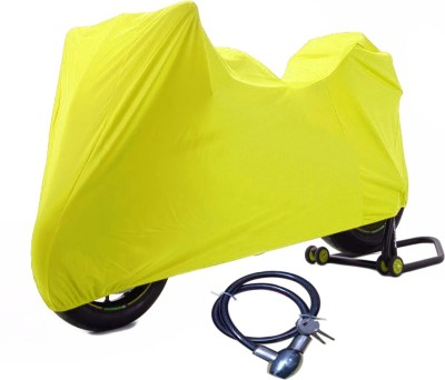 Time 1 TVS Max Yellow Cover, 1 With Helmet Lock Combo