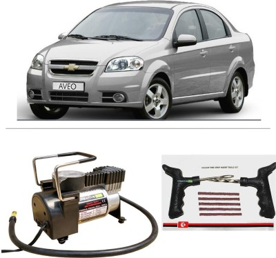 CreativeVia AutoCut-OFF Premium Metal Air Compressor With Tyre Punture Repair Kit For Chevrolet Aveo Combo
