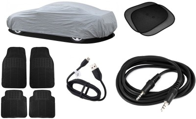 Legemat 1 Car Body Cover, 4 Foots Mat, 1 Data Cable, 1 Aux Cable, 2 Sun Shade Combo