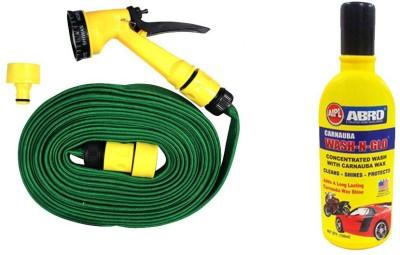 Speedwav 1 Bike Cleaning Kit Water Spray Gun 10 Meter, 1 Abro Shampoo 100 ml Combo