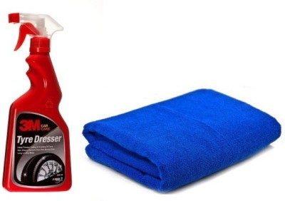 3M Auto Specialty 500 ml Wheel Tire Cleaner(Pack of 1), Microfiber Vehicle Washing Cloth Combo