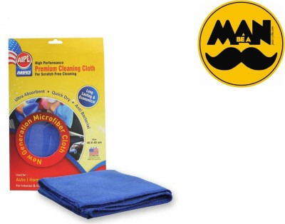 Abro 1 Car Bumper Sticker-BE A MAN (ROUND), 1 Microfiber Cloth Combo