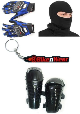 BikeNwear 1 Fox Raptor, 1 Probiker Gloves Blue-XXL, 1 Balaclava Face Mask, 1 Keyring Combo