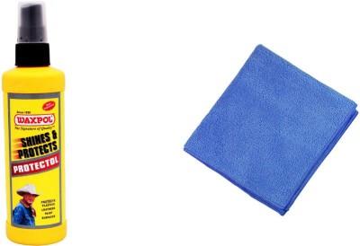 Waxpol 1 Protectol Polish for Car Plastics Leather Paint Surfaces 100ml, 1 Microfiber Cloth Combo