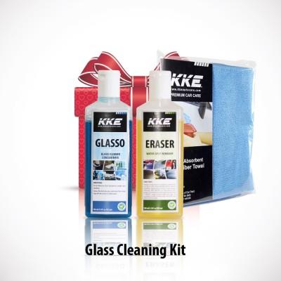 KKE 1 KKE Glasso, KKE Eraser Gel, MIcrofibre Towel Combo