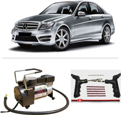 CreativeVia AutoCut-OFF Premium Metal Air Compressor With Tyre Punture Repair Kit For Mercedes Benz C Class Combo