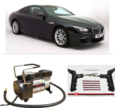 CreativeVia AutoCut-OFF Premium Metal Air Compressor With Tyre Punture Repair Kit For BMW 6 Series Combo