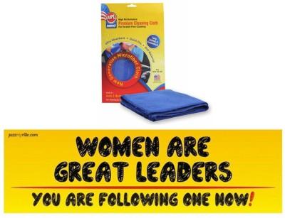 Abro 1 Car Bumper Sticker-WOMEN ARE GREAT, 1 Microfiber Cloth Combo