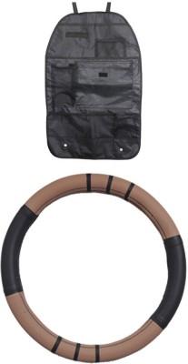 Allure Auto 1 Steering Cover, 1 Seat organizer Combo