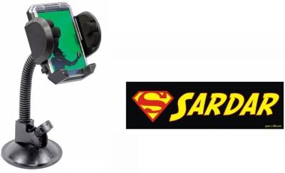 Speedwav 1 Quirky Car Bumper Sticker-SARDAR, 1 FLY Mobile Holder with Photo Frame Combo