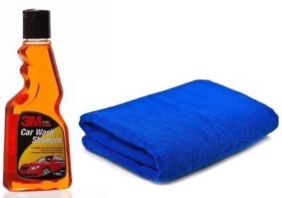 3M car care Car Washing Liquid(250 ml), Microfiber Vehicle Washing Cloth Combo