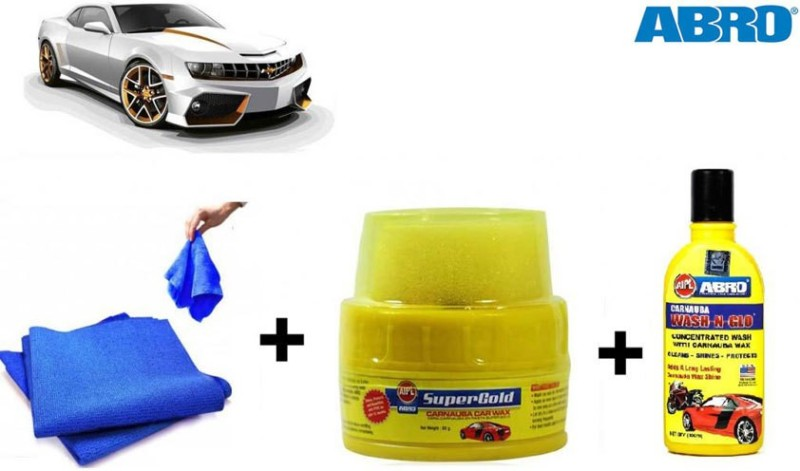 Abro 1 Car Polish, 1 WaxPolish, 1 Microfiber Cloth) Combo