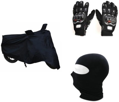 Pro Biker 1 Bike Gloves, 1 Face Mask, 1 Bike Cover Combo