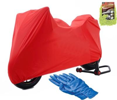 Bull's Eye 1 TVS Apache RTR 160 Body Cover, 1 Microfiber Glove, 1 Pair Cleaning Glove Combo