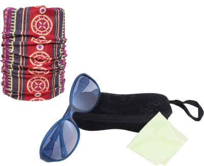 Sushito Blue Designer Sunglass For Women With Ridding Bandana Combo