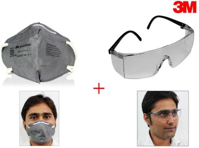 3M 1 Goggles, 1 Face Mask Combo