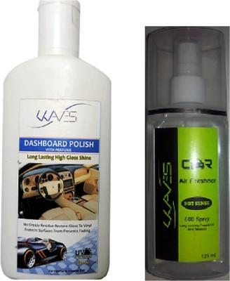 Waves 1 DASHBOARD POLISH 1 CAR AIR FRESHNER Combo