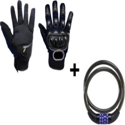 Joynix Probiker Gloves (XL) & Helmet Number Lock Combo