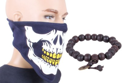 Sushito Attractive Blue Face Mask Combo Wrist Band Combo