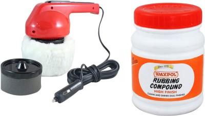 Coido 1 6003 Car Polisher, 1 Waxpol Rubbing Compound Polish and Shiner Combo