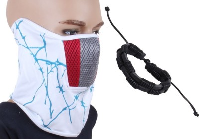 Sushito White Face Mask Combo Wrist Band Combo